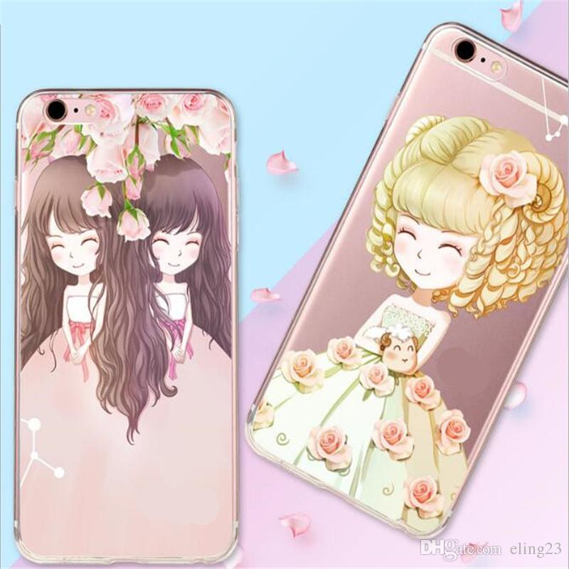 2017 new deft design TPU painted cell phone cases multi-typed cartoon back cover cell phone cases