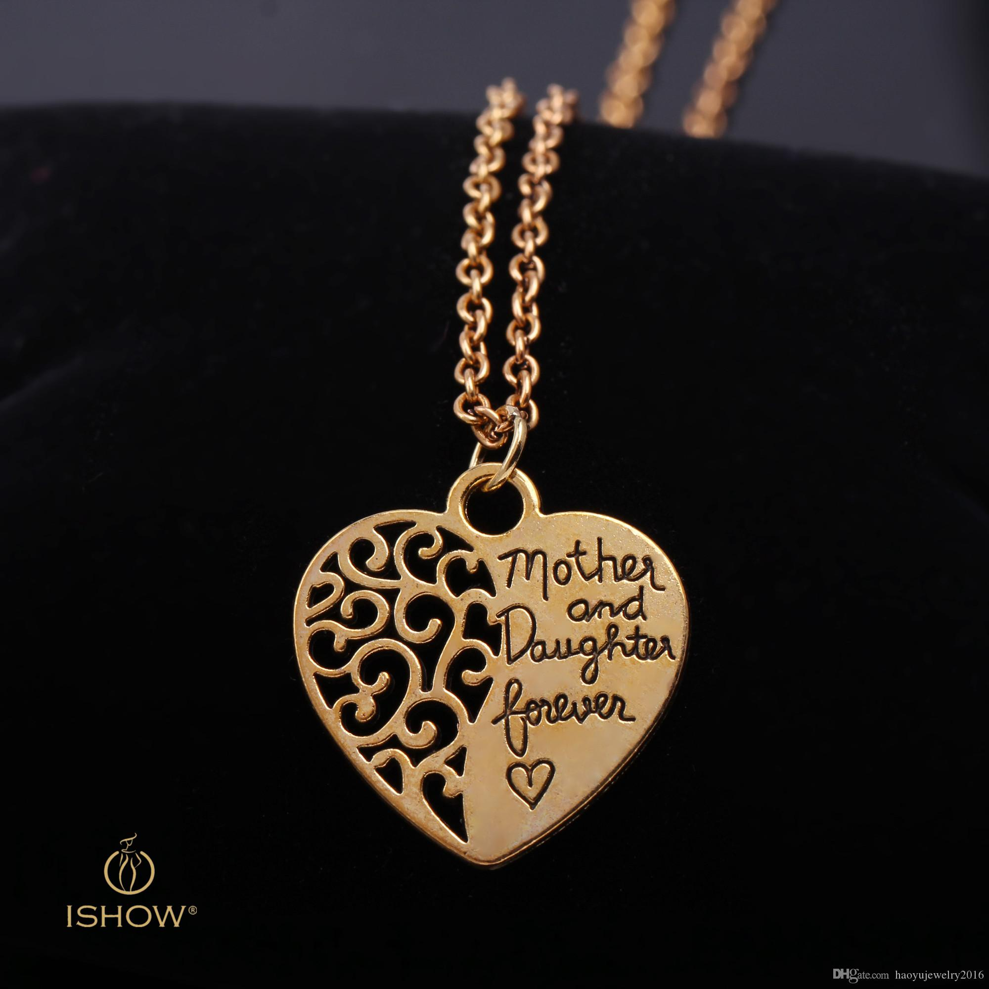 Wholesale Solid Pendant Necklaces Friendship Jewelry Gold Plated