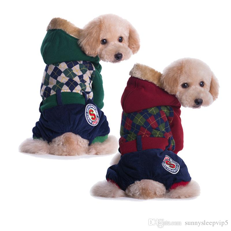Plaid Pet Dog Clothes For Small Dogs Jackets Coats Pet Clothes Dogs