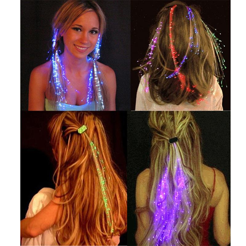 Wholesale Glowing Butterfly Braids 20pcs/lot Plastic Led Hairpin Frame Glow Sticks Suit For Party Birthday Wedding Decoration