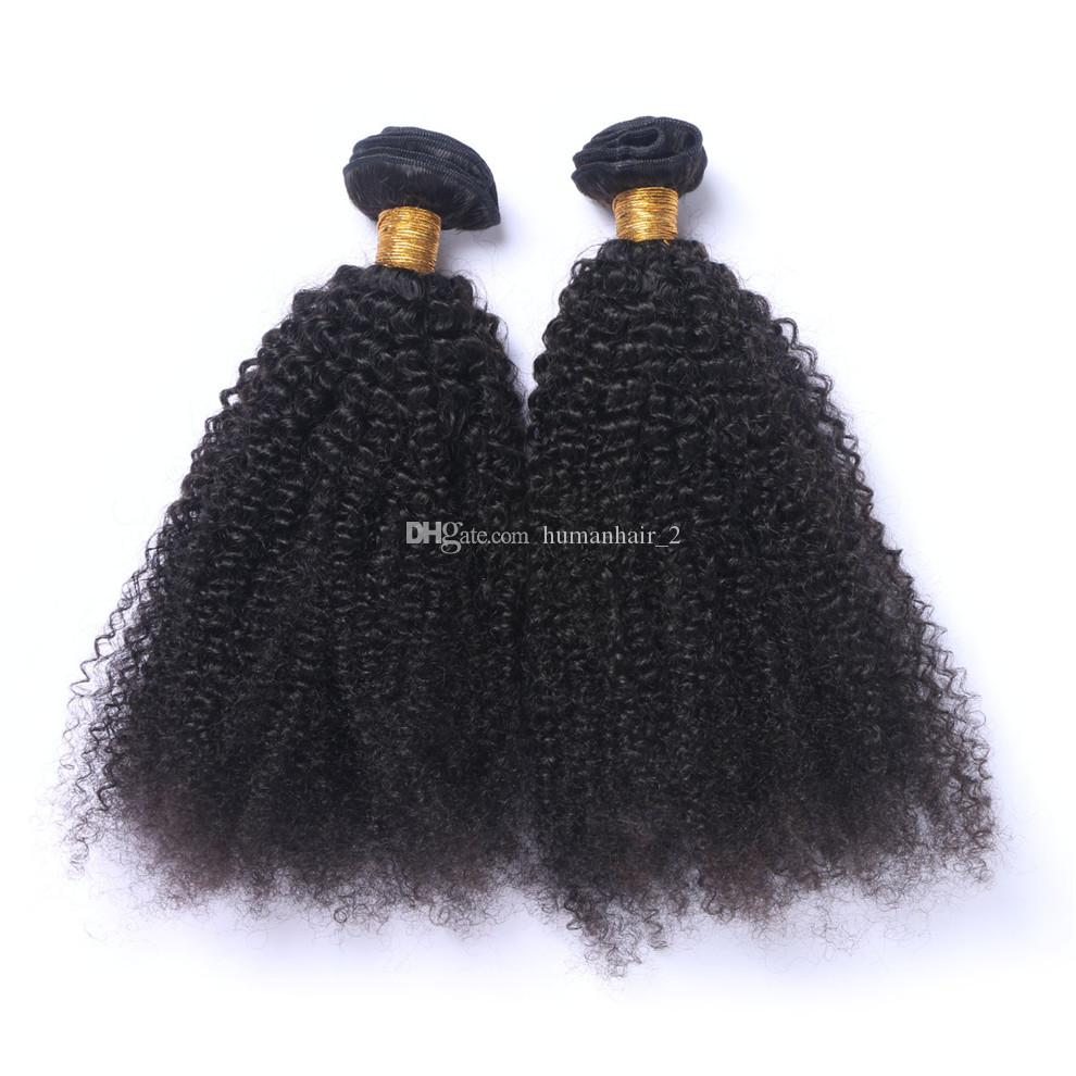Brazilian Human Hair Kinky Curly Extensions Weaves Unprocessed afro curly Human Hair Bundles Real Pics No Tangle No Shed