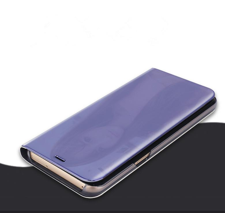 For Samsung S9 S8 Plus S7 S6 Note 9 8 A8 iPhone X XS 9 8 Smart Kickstand Touch View Flip Cover Leather Case With Auto Sleep Wake Up Function