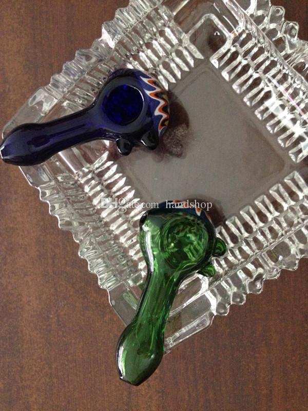 Gros Double soufflé rayé Pipe deux perles de verre en verre à la main des tuyaux 3.5 pouces avec de beaux vestes virgatae pour fumer, livraison gratuite
