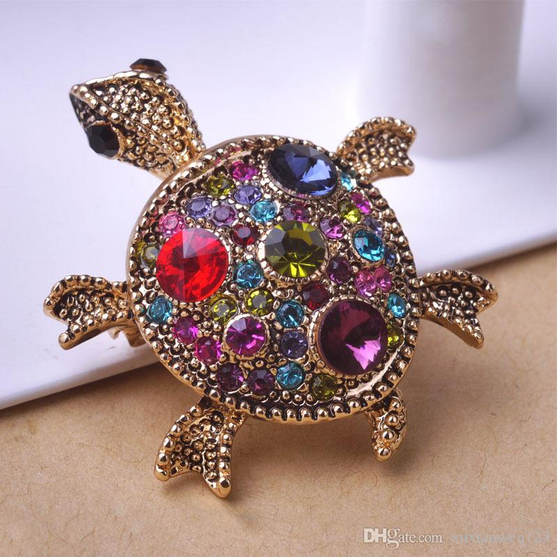Korean Gold Brooches Wedding Broach Hijab Pin Up Broches Free Vintage Jewelry Brooch Bouquet Tortoise Antiques