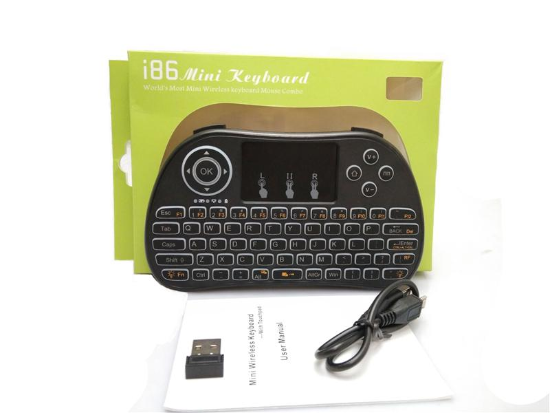 Backlight Backlit Wireless Keyboard I86 Fly Air Mouse Keyboard Remote 2.4GHz Wireless Remote Control For S905X S912 android TV Box X96