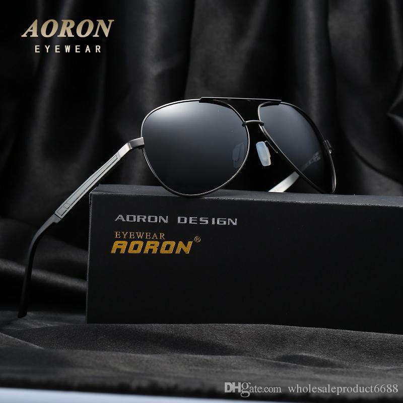 19142b99c9 AORON Fashion Metal Sunglasses Men s Designer Unisex Oculos De Sol ...