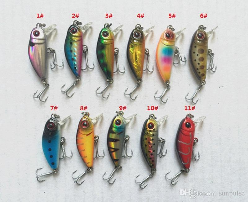 3.5cm 2.5g Mini Fishing Lure Minnow Baits Artificial Hard Bait Plastic lip China hook suspend in water