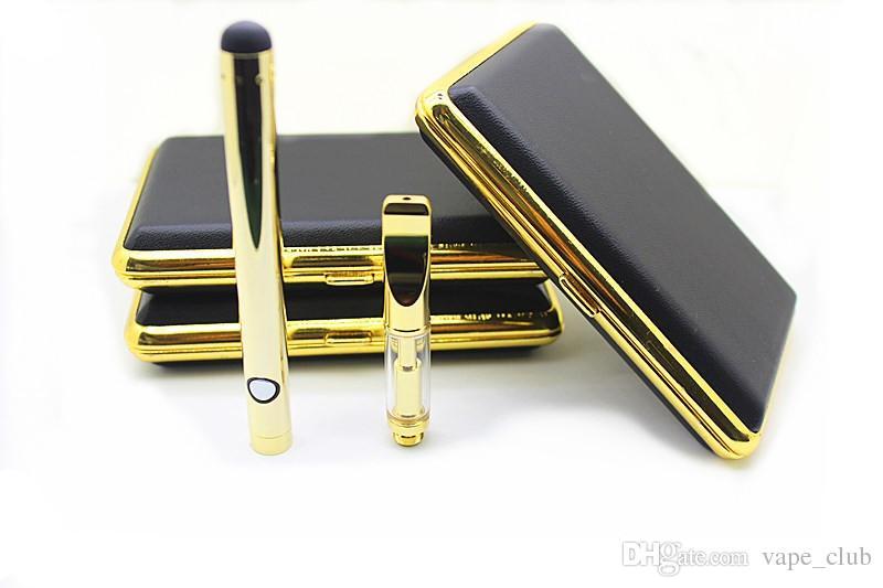 2017 NEW design vaporizer pen E-cigarette Kits golden o pen vape start kit for smoking 280 mAh button battery adjustable