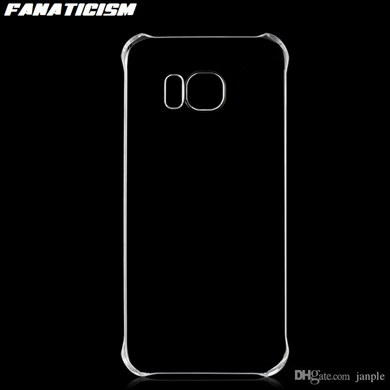 Glossy Plastic Hard Clear Case For Samsung Galaxy S10 5G S9 S8 S7 S6 Plus Note 8 9 10 1.3mm PC Cover