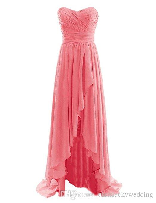 Chiffon Sweetheart Plus Size Coral Bridesmaid Dresses Long 2017 Sexy Maid Of Honor Dress Cheap Wedding Party Gown