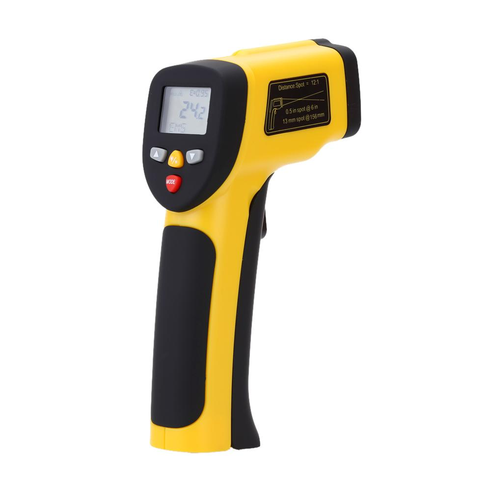 Freeshipping Precision Digital Infrared Thermometer Double Laser Non-contact IR Pyrometer Temperature Tester Diagnostic-tool 50~1050 Degree