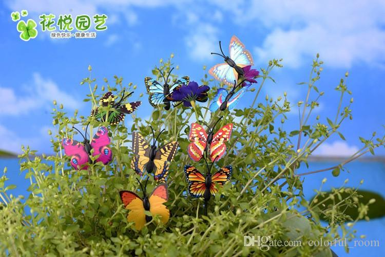 New Mini Insect artificial Butterfly sanimals ornaments miniatures for fairy garden gnome resin crafts bonsai bottle garden decoration