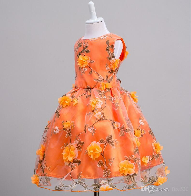 Großhandel Mädchen Blumen Kleid Hochzeit Blumen Mädchen Kleid ...