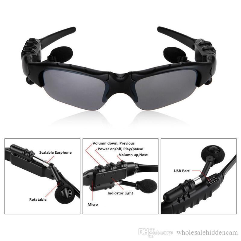 Gafas inteligentes Bluetooth V4.1 Sunglass Sun Glass Deportes Auriculares Reproductor de MP3 Bluetooth Teléfono Auriculares inalámbricos Bluetooth Gafas
