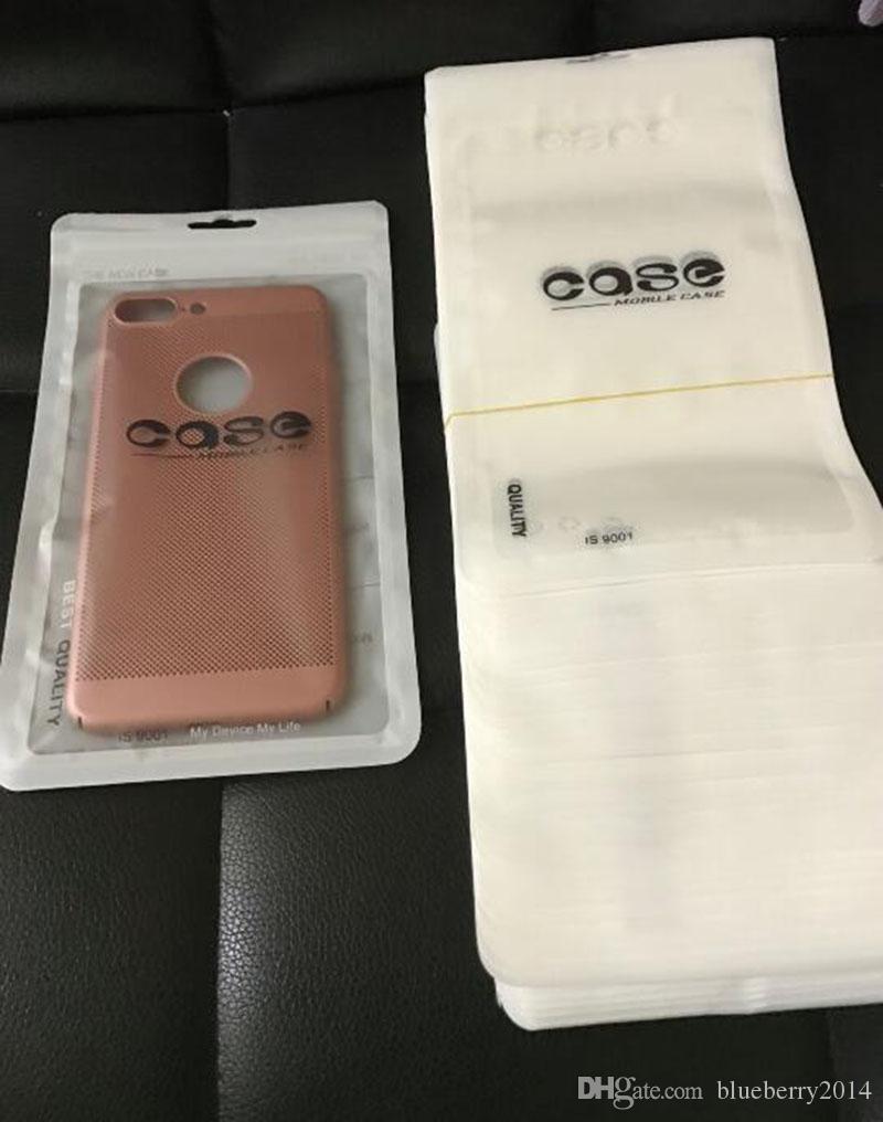 Custodia al dettaglio in sacchetto OPP poli sacchetto di plastica antipolvere tasca tasca 12 * 20 cm grande Samsung Galaxy S3 S4 custodia in pelle iPhone