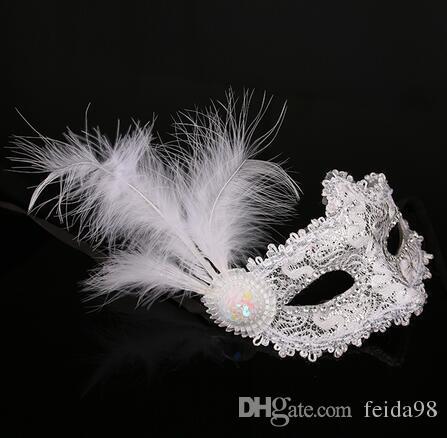 Hotsale Halloween Masquerade Mask Half Face Mask Women Party Mask Princess Venetian Anonymous Feather Masks
