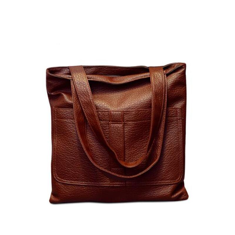 b90a4750ec20 ... 2016 Hot Vintage Luxury Women Bag Leather Handbag Famous Designer Tote  Shoulder Messenger Bag Ladies Sac A Main Bolsas Feminina Cheap Designer  Handbags ...