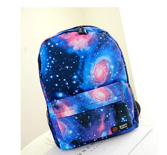 Wholesale- Unisex Galaxy Space Backpack Travel Rucksack Canvas Book Storage School Bag