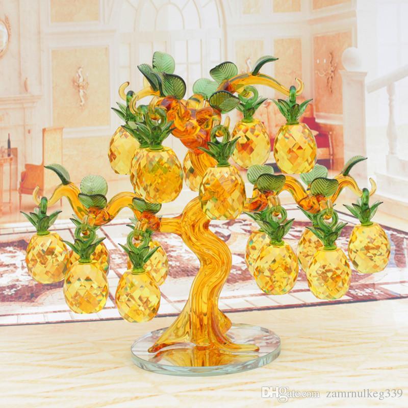 Großhandel Schöne Weihnachten Crystal Ananas Glück Glück Baum