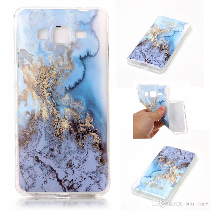 Marble Case For Samsung Galaxy Grand Prime G530/J3/J5/J7/J5 J510 2016/J7 J710 2016 TPU IMD Soft Gel Rubber Soft Back Phone Cover