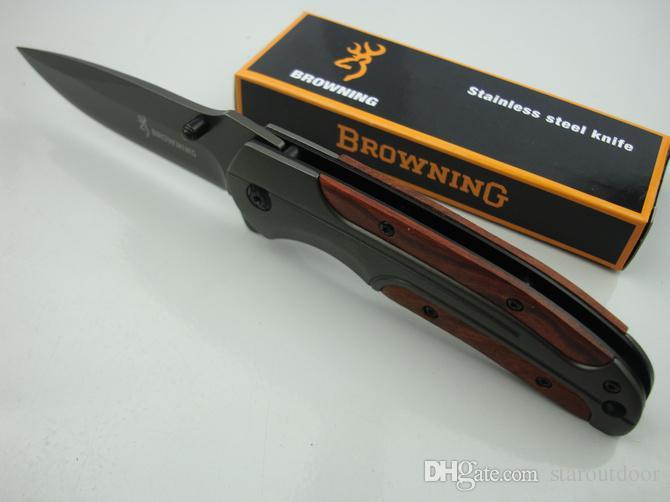 Promotion Browning DA43 Titane Tactique Couteau Pliant 3Cr13Mov Camping En Plein Air Chasse Survie Couteau De Poche Utilitaire EDC Collection De Noël
