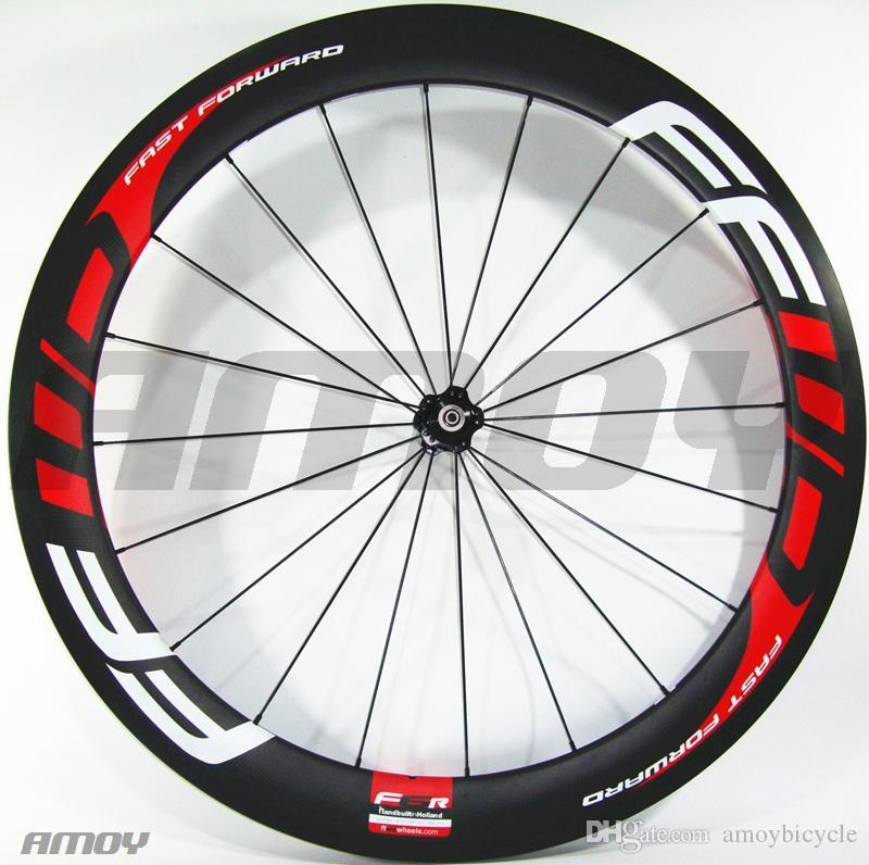 Hot sale FFWD F6R wheels 60mm wheelset Novatec powerway hubs full carbon road bicycle bike wheels free gifts