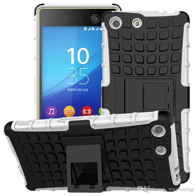 innovative design 15b11 6298a For Sony Xperia M5 Case Heavy Duty Armor Shockproof Hybrid Stand Hard  Rugged Rubber Cover For Sony Xperia M5 Dual E5603 E5606