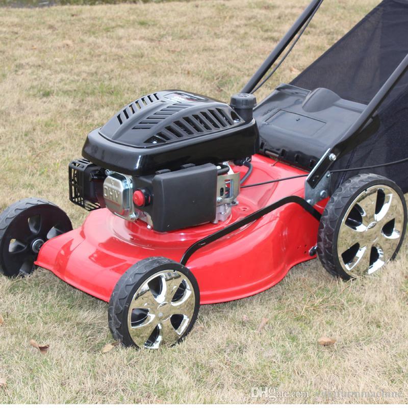 Cortadora de césped de 18 pulgadas Potencia de gasolina Cortadora de césped autopropulsada Cortadora de césped Tractor Cortadora de césped Máquina cortadora de césped