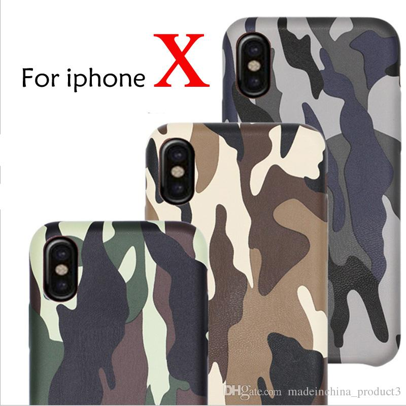b7812759bb Fashion Camouflage Case for iphone X Cool Army Camo Phone Hard PC Back Cover  for iphone 8 plus 6 6s 7 plus Fundas
