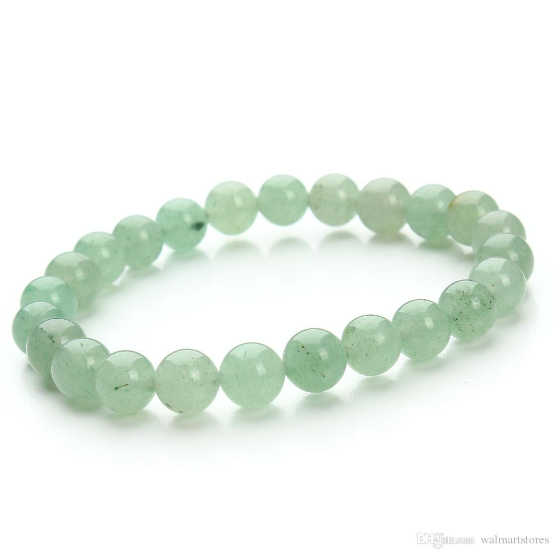 Find Something Different New Jade Gemstone Power Bracelet 24 Beads 8mm VwkE9F