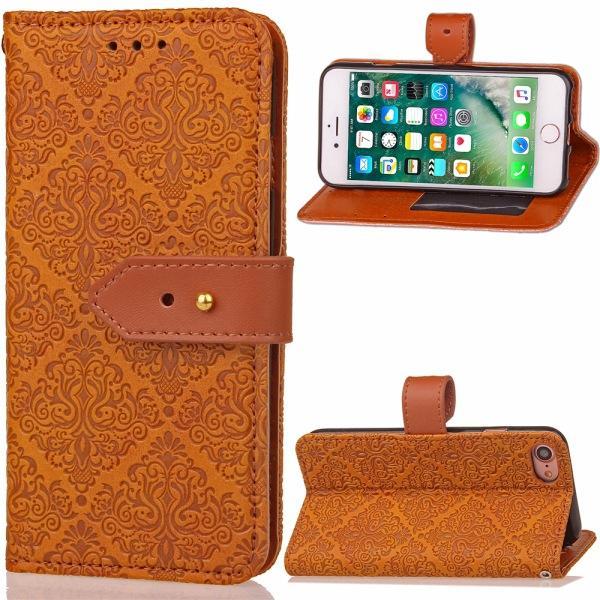 Patrón PU Funda de piel Soporte de la carpeta Estilo Stent Bolsa de teléfono Funda de la caja con Soporte de tarjeta para Samsung S3 4 5 6 iphone 6S 6 Plus Paquete OPP