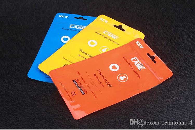 Atacado saco de embalagem à prova d 'água para samsung s8 s8 mais colorido zipper lock embalagem saco para o telefone case para iphone 7