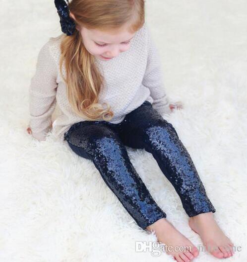 Sequin Pant Tights Girls Leggings Kids Gold Sequins Pants Autumn New Children Bottoms Girls Princess Pants