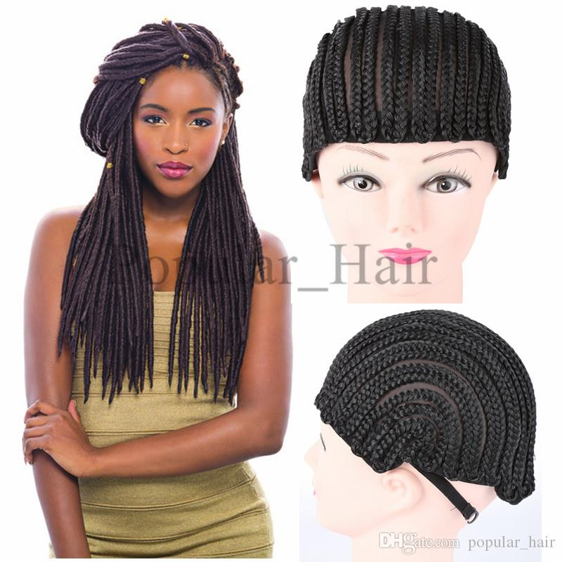 Havana Mambo Faux Locs Wig Caps Synthetic Hair Extensions Cornrow