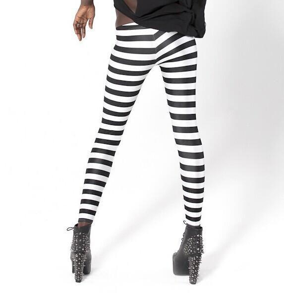 55256a908c3b6 2019 Leggings Classic Black White Stripes Womens Clothing Sexy Legging  Patterned Girl Zebra Strip Leggings Elastic Tights Space Pants Free DHL  From ...