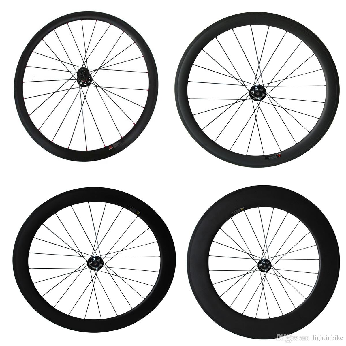 Disc Brake 24mm 38mm 50mm 60mm 88mm Carbon Cyclocross Bike Wheels Only Front Wheel Cyclocross Bicycle Wheel one Wheel