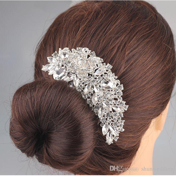 Luxury Boutique Bridal Crystal Flower Hair Comb Hair Pins hairpieces Flower shaped Bridal Accessories for Women Party Jewelry