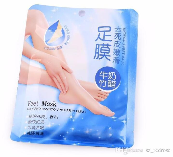 Feet Peeling Renewal Milk and Bamboo Vinegar Feet Mask Remove Dead Skin Smooth Exfoliating Socks Foot Care Socks For Pedicure
