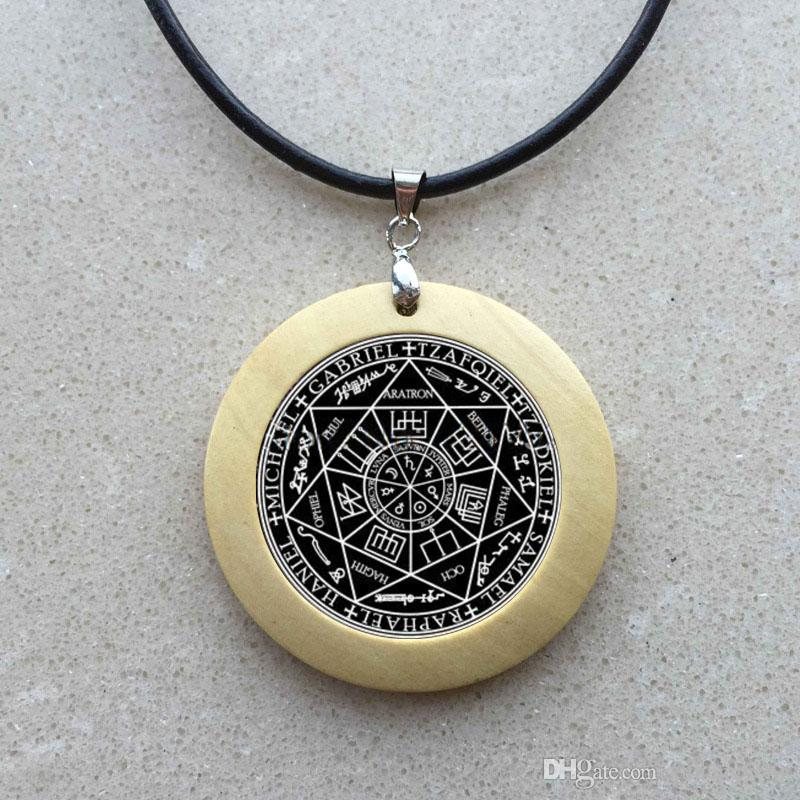 Collar de cabujón de cristal de la foca de los siete arcángeles y espíritus olímpicos