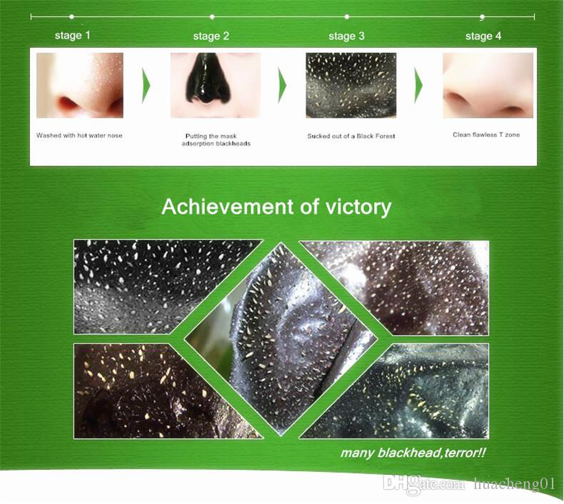 DOBERYL Masque comédons Soins du visage Facial Remover Comprimés pour le nez Traitements pour l'acné nettoyant en profondeur Boue minérale EX Bandes de pores Cleaner 6g