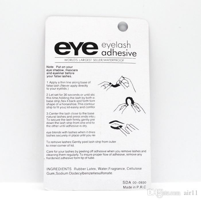100pcs Eye Lash Glue Black White Makeup Adhesive Waterproof False Eyelashes Adhesives Glue White And Black Available