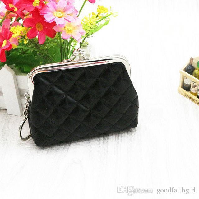 moda hot bella donna ragazza pu hasp portamonete portatile mini portafoglio cambiare sacchetto di denaro mini pochette portachiavi regalo di natale regalo
