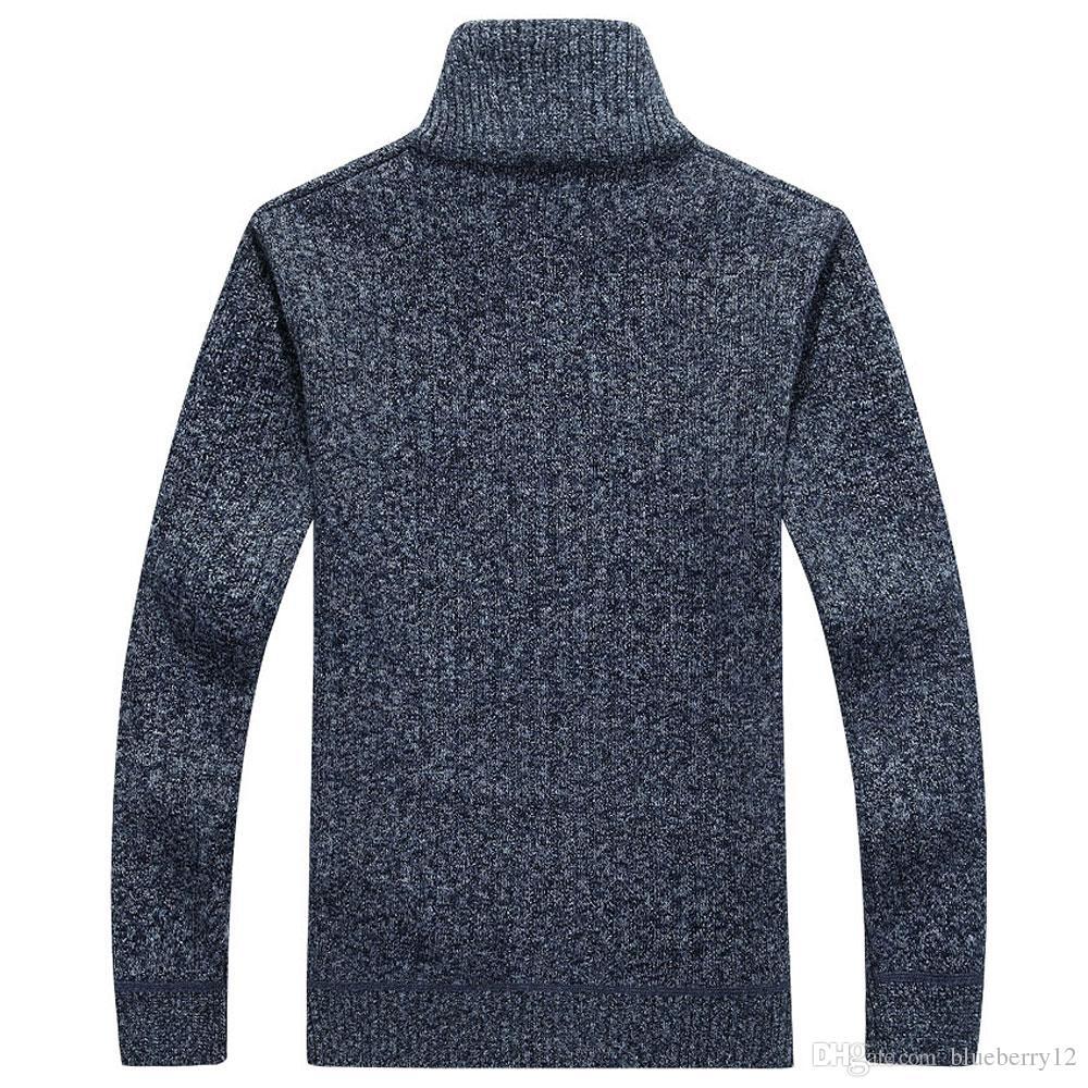 Neue Cardigan Mens Cardigans Strickwaren Zipper Pullover warme Fleece Hoodie Sweatshirt Casual Hoodies für Herbst Winter