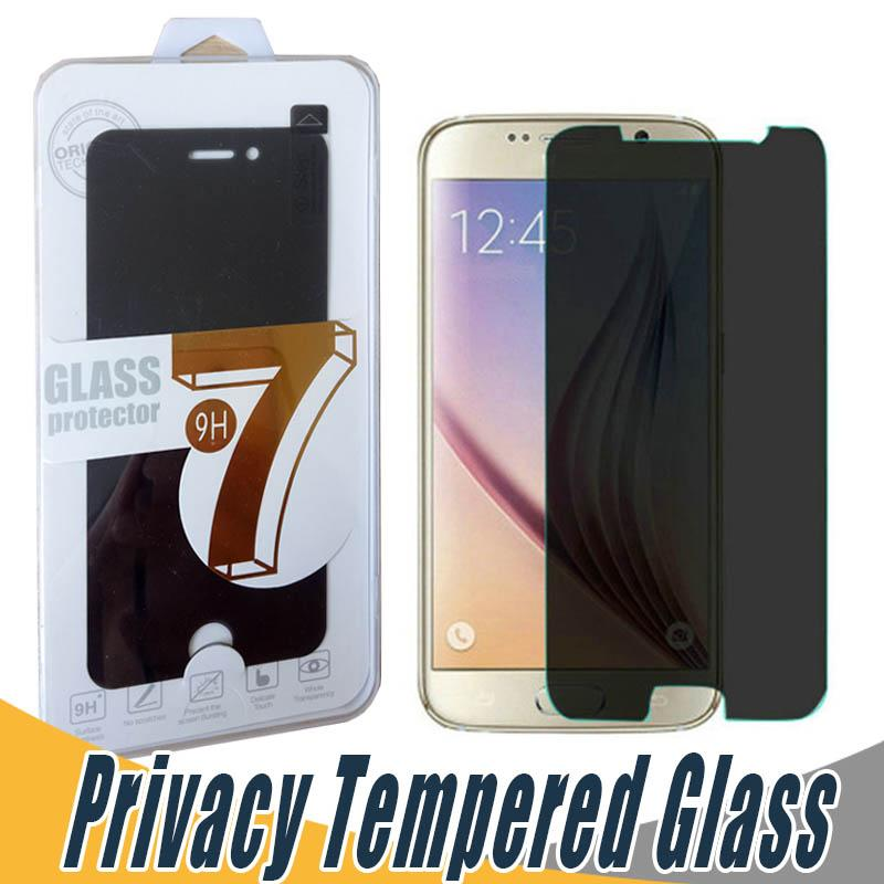Privacy Screen Protector Shield Anti Spy Arc Edge Tempered Glass For Lg G2 Lite G3 G4 K8 K10 2017 K4 K7 Ls775 Ls770 With Retail Package Top