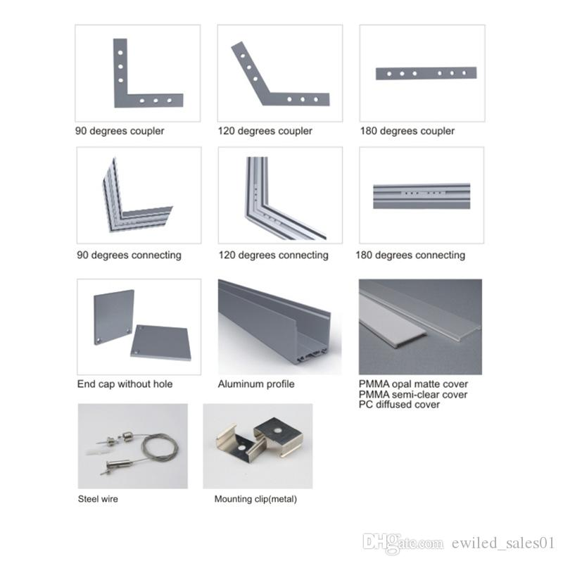 50 X 1M setsOffice lighting aluminum led channel and high power U profile alu for flooring or recessed wall lamp