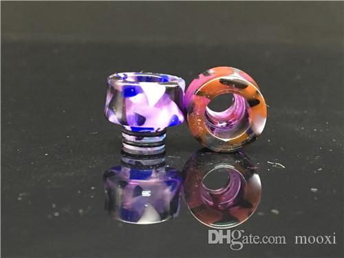 Vaporizer 510 resin MOUTH PIECES Pretty pattern Epoxy Resin drip tips for RDA atomizer ego tank 510 drip tips DHL Free Ship