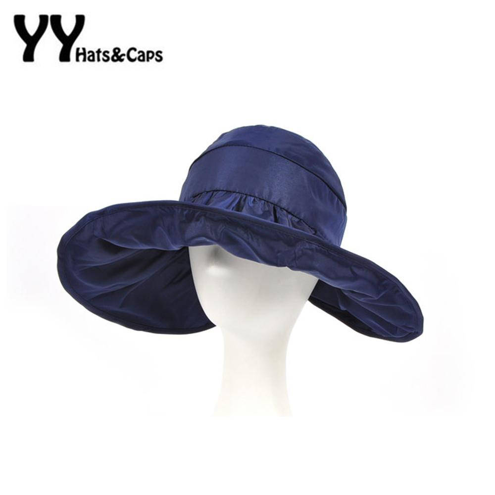 d11b00ec7dd Wholesale- 2016 Summer Roll Up Sunhats Wide Brim Sun Visor Hat Women ...