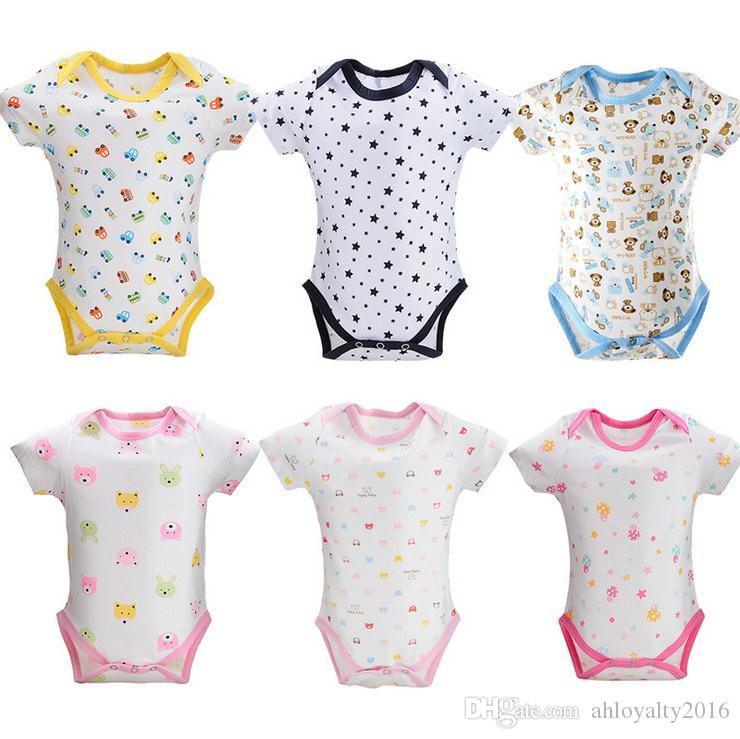 b54bfc4c15b9 2019 Factory Price Baby Romper Onesies Summer Short Sleeve Kids Toddler  Romper Jumpsuit Infant Triangle 100% Cotton Baby Clothing From  Ahloyalty2016