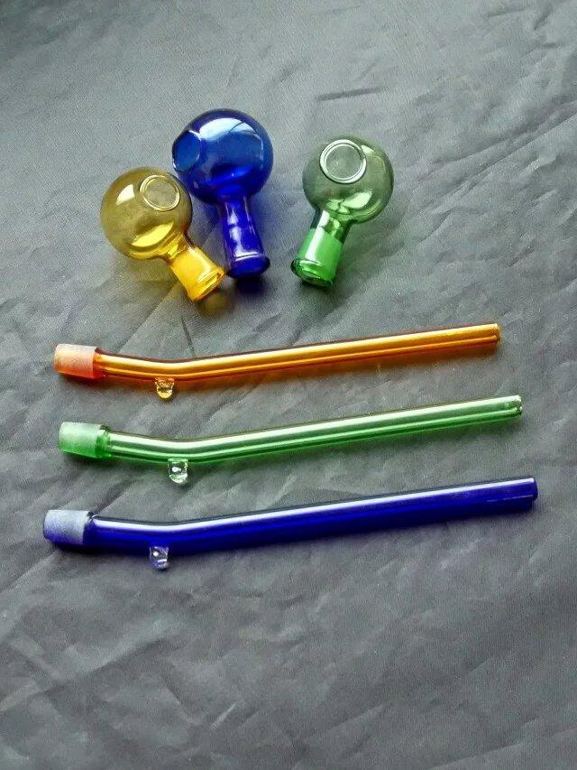 Renk ayrımı pot cam bong aksesuarları, Cam Sigara Borular renkli mini çok renkler El Borular En Iyi Kaşık glas