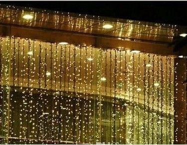 Hot sale Running up down waterfall 6M x 1.5M 300 LED String Fairy Curtain Lights Christmas lamps 110V-220V AU UK EU US plug water falls